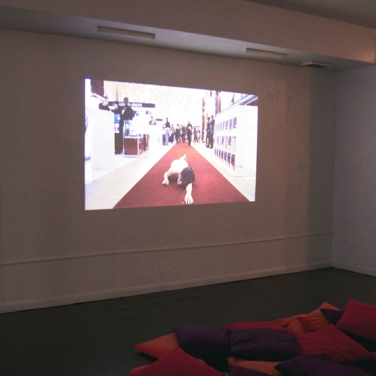 Out Of Blink, Installation shot (video: Nadja Verena Marcin, //KIDS//, 2012, video, 13.34 min © Nadja Verena Marcin & 532 Gallery Thomas Jaeckel)