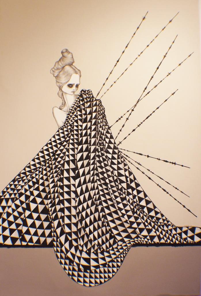 Daniele Davitti Pietre Leggere (Ethereal Stones), 2013, acrylic, ink and graphite on canvas, 47x32