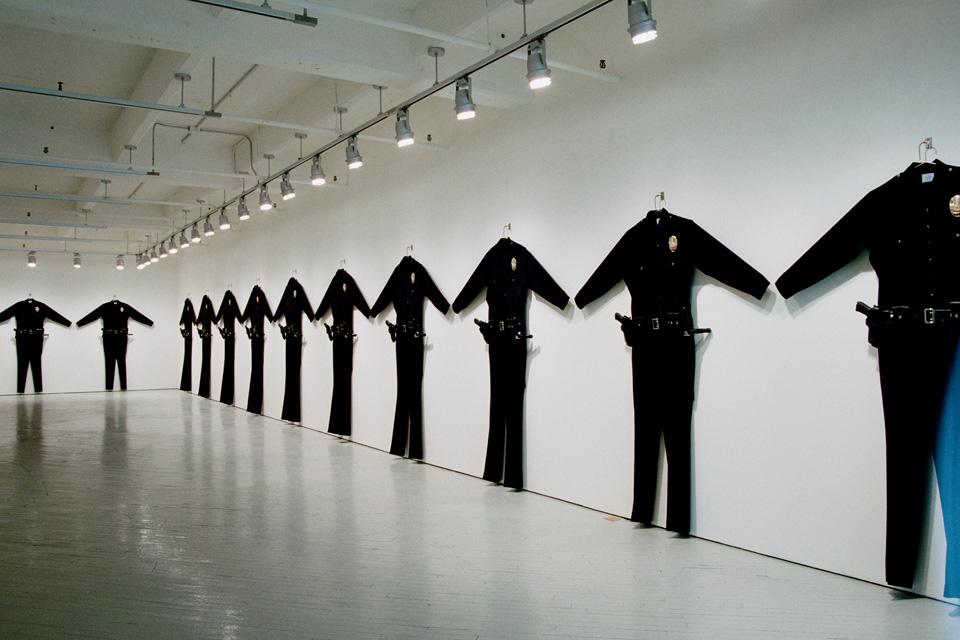 Chris Burden, LAPD Uniforms, 1993, photo FabricWorkshop