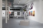 FEARFULAWESOME - Ecstacy, death and rebirth of a male painter. TEMP art space NY. Exhibition view.