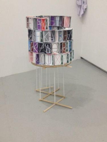 Ei Arakawa / Nikolas Gambarof, Two-Alphabet Monograms (Living Well), 2013 @ Galerie Meyer Kainer