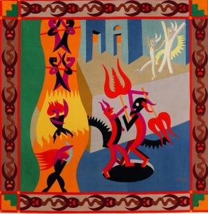 Fortunato Depero Diavoletti Neri e Bianchi, Danza di diavoli, 1922-23
