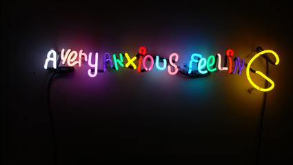 avaf, a very anxious feeling, neon, var. dim.