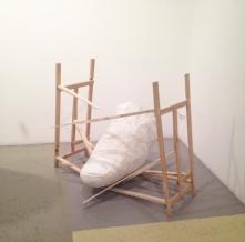 "Andrew Ross Raf's Thumb, 2012, wood, plaster, screws, 60x40x43"""