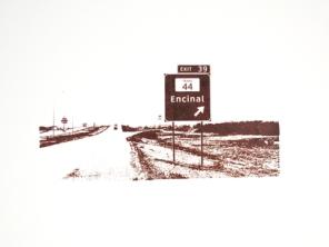 Ethel Shipton, Encinal, screen print on strathmore cotton paper