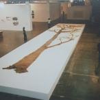Alberto Baraya Proyecto de arbol caucho: Latex tree project. Arbol Grande. Installazione coneto del Carmen, Valencia, 2007. 1900x800x10 cm