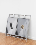 Myeongsoo Kim, Untitled_Pipe and Gold' 2015 Archival pigment print mounted on aluminum, wooden frame, aluminum u channel