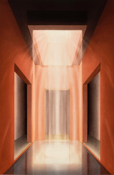 Lauretta Vinciarelli, Atrium in Red (1992). Image courtesy TOTAH Gallery