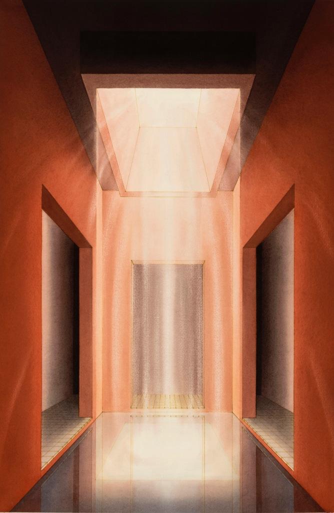 Lauretta Vinciarelli, Atrium in Red (1992). Image courtesy TOTAH Gallery