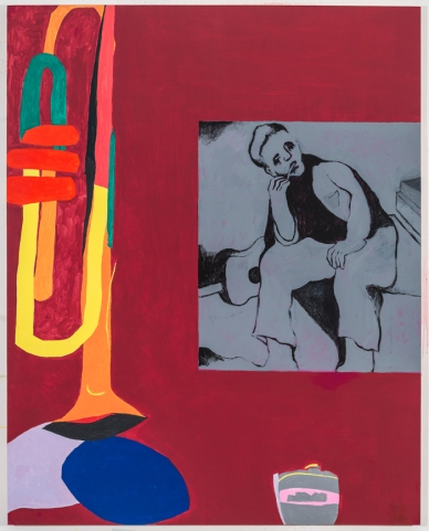 Dov Talpaz, Improvisation, Latex on Wood, 60x48, 2014-16