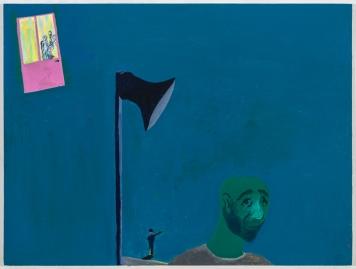 Dov Talpaz, Optimism of Sound, Latex on wood, 40x30, 2016