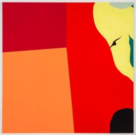 Dov Talpaz - Red Corner, Latex on wood, 60x60, 2014