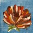"""Anna Donahue, """"Flower Power #2"""" Acrylic on canvas, 6 x 6"""