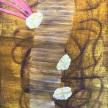 """Becky Yazdan, """"Dumpster Diving"""" Oil on linen on panel, 14 x 11"""