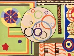 """Bruce Gordon, """"Garden of Circles"""" Acrylic on canvas, 19 x 25"""