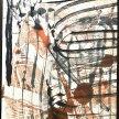 "Christine Towner, ""Jazz: A Salute to Herbie Hancock"" Encaustic on Kozo Japanese paper, 14 x 11"