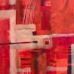 """Colleen Rockey, """"Refraction"""" Acrylic on wood, 10 x 10"""