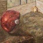 """David Besteman, """"Pokemon Pop-Art"""" Oil on canvas, 9 x 12"""