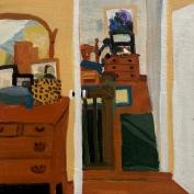 "Holly Sturges, ""Upstairs Hallway"" Oil on panel, 12 x 12"