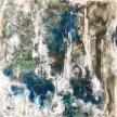 "Judi Kruis, ""Through the Clouds"" Encaustic on wood, 12 x 12"