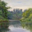 """Kathleen Kalinowski, """"Evening Light"""" Oil on canvas, 9 x 12"""