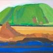 """Lynette Lombard, """"Mt Walmart"""" Oil on canvas, 8 x 10"""