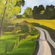 """Maggie Bandstra, """"The Path"""" Oil on canvas, 21 x 21"""
