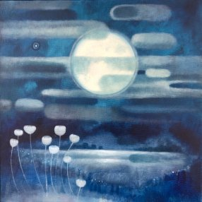 """Mary Sundstrom, """"Nocturne"""" Oil on canvas, 16 x 16"""